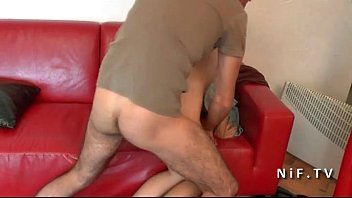 pretty youthful french dark-haired buttfuck pulverized and creamed.