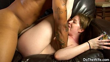 milky gal lets a ebony fellow shag her.