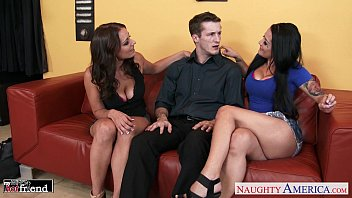 magnificent brunettes katrina jade and kayla west share trunk