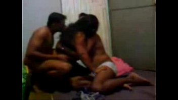 desi housewife in steamy threeway with husband and.