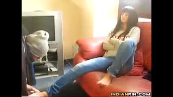 indian gal dominance haivng her feet.