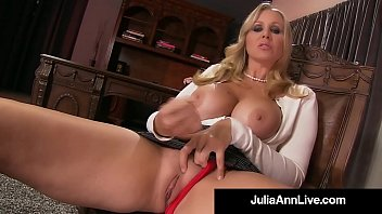 stepmother julia ann displays stepson how to wank.
