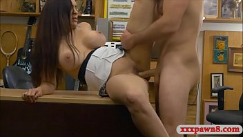 gigantic bosoms girl gives head and banged by.