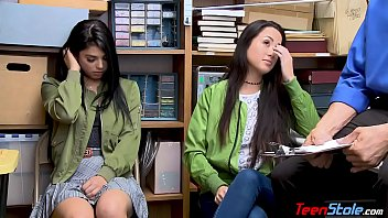 latina teenie sisters rip up security guard to.