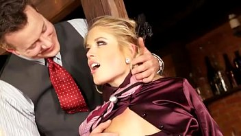 classy clothed ash-blonde have fun with fucktoy and.