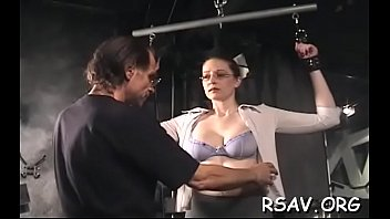 sizzling honey in astonishing s/m episodes with straps.
