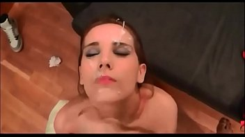 nutting all over her face