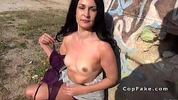 dark-haired deep throats faux cops hefty fuckpole in nature