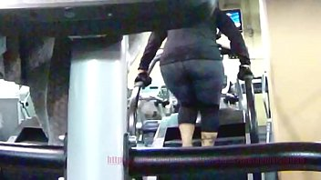 candid ample donk doll in sweat.