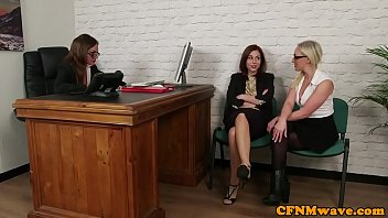 captivating office femdoms throating ebony victim