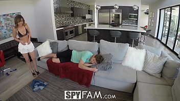 spyfam nosey step sis dillion harper pulverizes and.