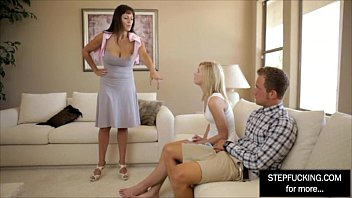 cougar step mommy training her daughter-in-law and bf.
