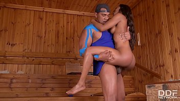 sauna guest jasmine webb opts for drilling a.