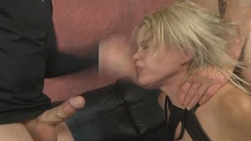 silver-blonde nadia milky spanked with some raunchy face drilling