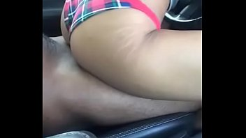 ebony honey pounds in the van in daylight.