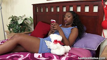 two ebony stunners have fun with.