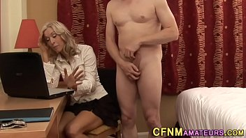 inexperienced cougar tugs chisel