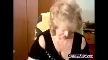 round and massive-titted granny wanking