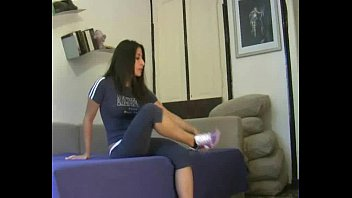 domme liliana sweat-soaked sock adore