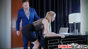 gorgeous assistant taught to serve supah-naughty manager crazy directions