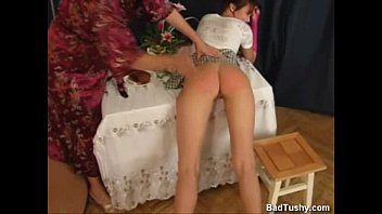 russian mummy spanks horny daughter-in-law