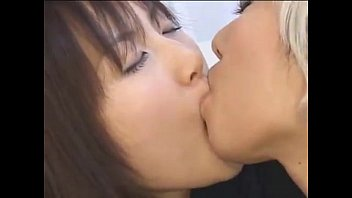 japanese girl/girl college girl smooching another woman in haul