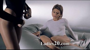 nymphs in tights penetrating with strap.