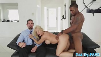 enormous-boobed cougar plowed in real hotwife.