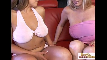 sugary silver-blonde chats her pal into some girl-girl.