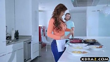 phat joy bags mommy boink compelled in kitchen 100