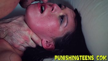 fetish teenie gags on sausage and gets puss.
