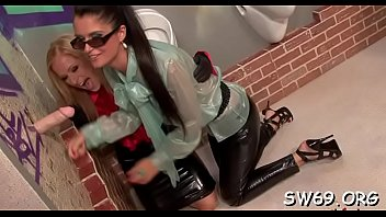 cool gloryhole oral job activity with honey getting.