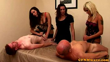cfnm euro cougars jerking competition