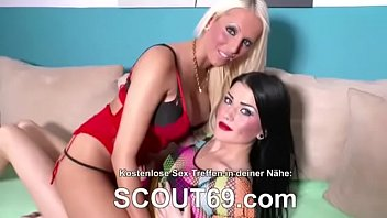 two german cougar tempt youthfull boy to get.