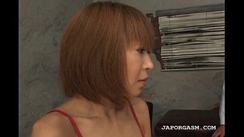 japanese fine sandy-haired hookup damsel undresses.