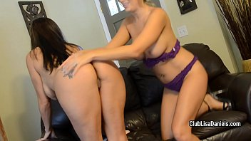 pretty girl-girl lisa daniels is squealing when sharing.