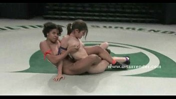 chocolate lezzie bombshell gets nude after grappling a.