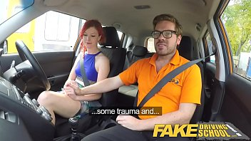 faux driving school schoolteacher boinks and creampies sexually.