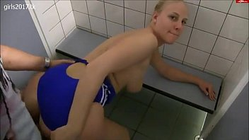 blond nubile with enormous bum romped in douche.