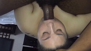 milky cockslut throating dark-hued smash-stick