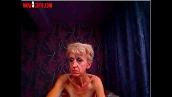 gross grannie poses for web cam and ravages caboose