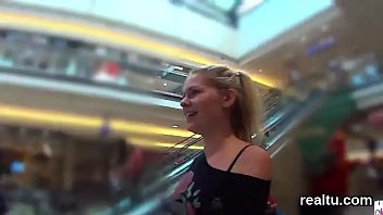 exquisite czech damsel gets taunted in the shopping.