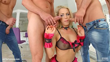 christen courtney group mass ejaculation blowbang guzzle sequence.
