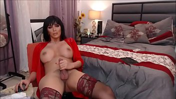 amazingly uber-sexy transgender princess jerking to ejaculation -.