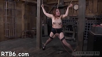 tied up doll is penalized by sir for.